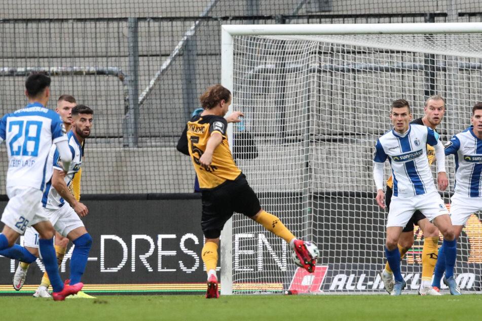 Baugleich sein Siegtor gegen den 1. FC Magdeburg. Paul Will hatte zuvor per Kopf die Latte getroffen. Yannick Stark nahm die Kugel direkt und versenkte sie.