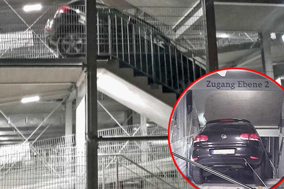 Schalke-Fans rattern Parkhaus-Treppe runter