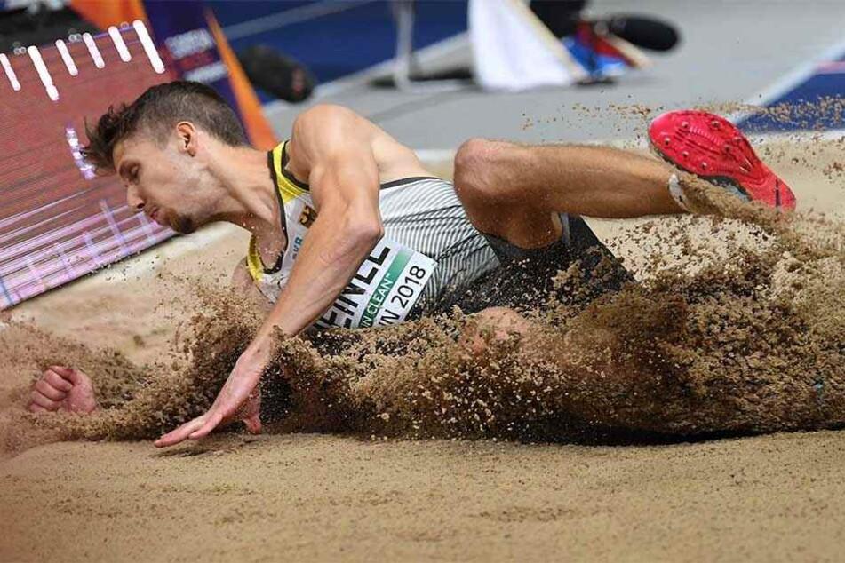 Weitspringer Heinle holt Silber bei der Leichtathletik-EM in Stuttgart.