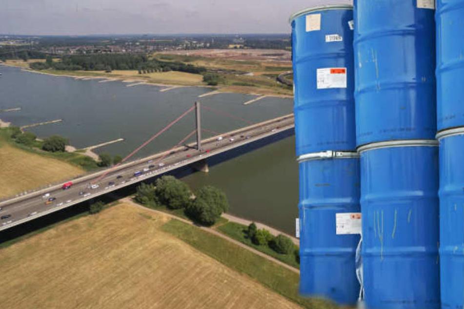 Im Boden unter der Brücke lauert Gift aus einer alten Deponie von Bayer. (Symbolbild)