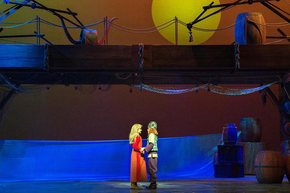 Auch romantische Momente beim Sonnenuntergang sind im Wickie-Musical zu erleben.
