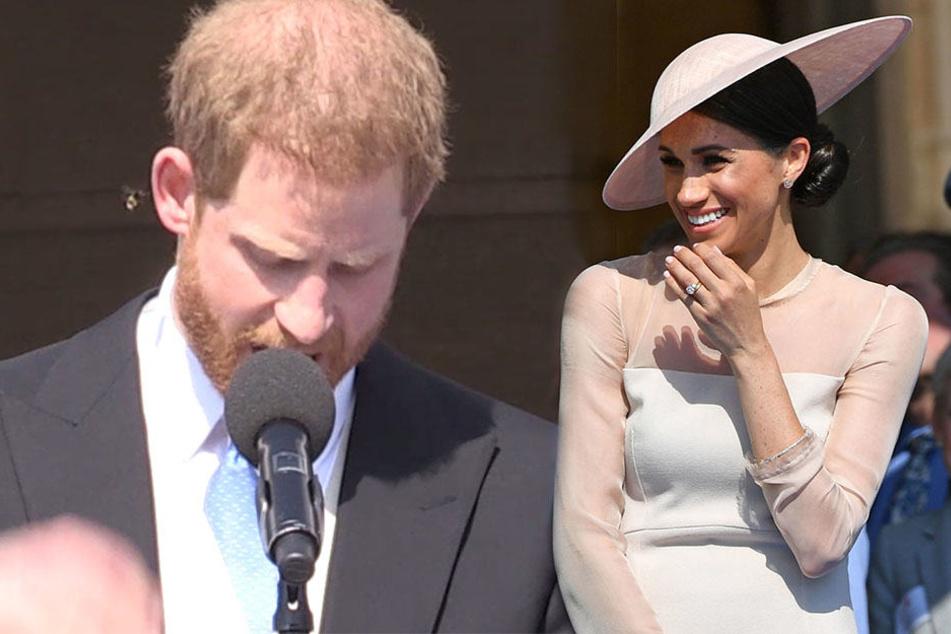 Als eine Biene ihren Mann bei seiner Rede störte, begann Herzogin Meghan wie viele der Gäste herzhaft zu lachen.