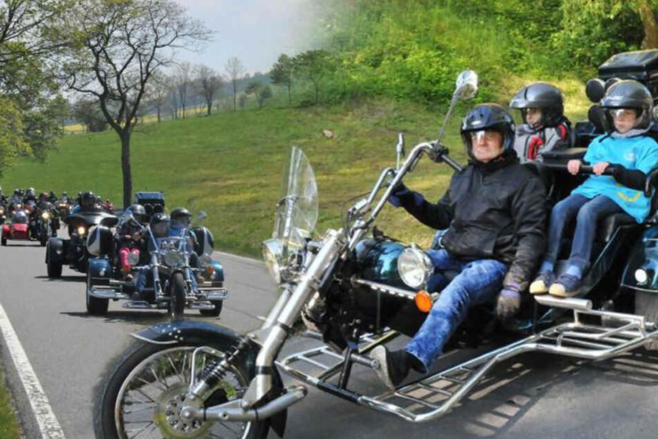 Harte Biker, weiches Herz: Mit kleinen Kindern auf großer Tour