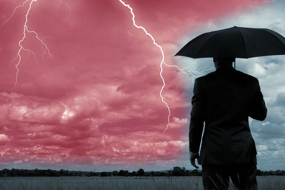 Ab Freitagnachmittag ziehen Gewitter auf - die Teile Deutschlands verfärben können.
