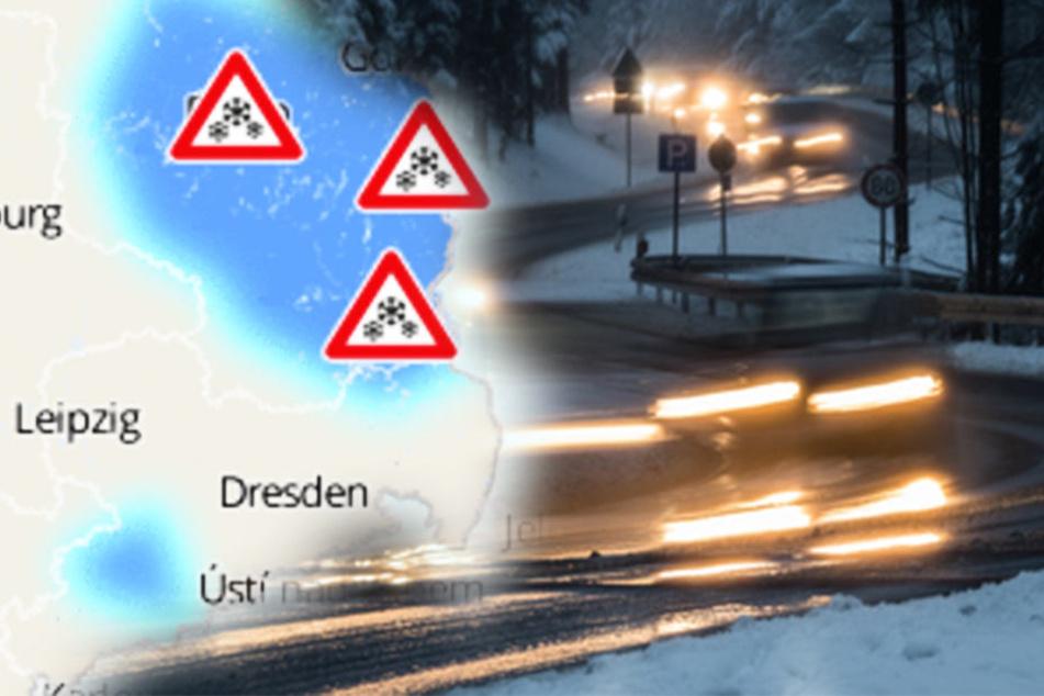 In Sachsen, Thüringen und Südniedersachsen gilt bis 10 Uhr Warnung vor Glätte.