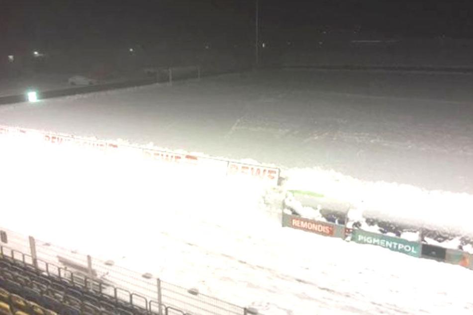 Gegen die Würzburger Kickers war wegen des Wintereinbruchs kein Spiel für Jena möglich. Auch gegen Magdeburg nicht.