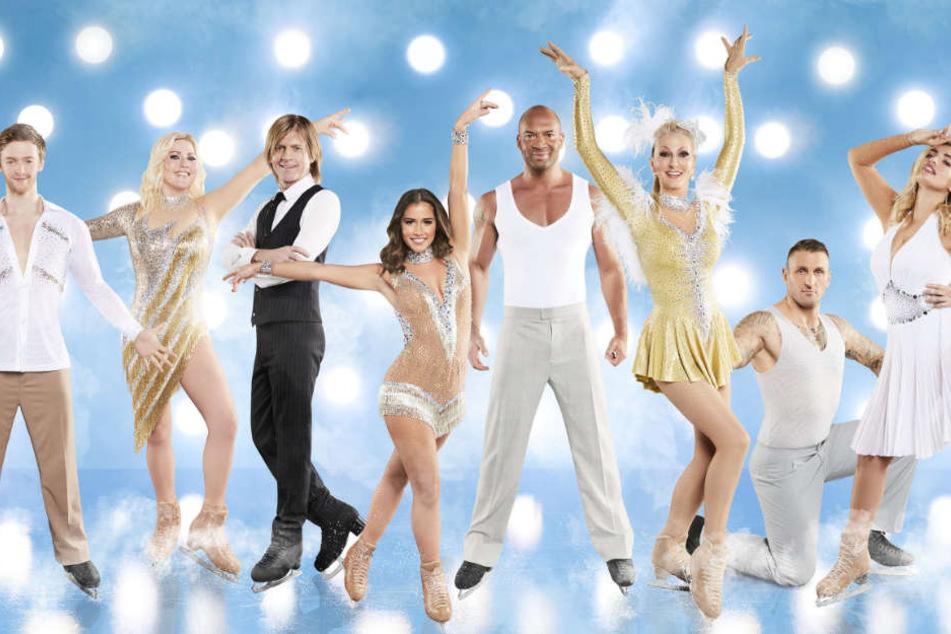 """Diese Promis stehen ab dem 6. Januar für die neue Sat.1-Show """"Dancing on Ice"""" auf wackeligen Kufen."""