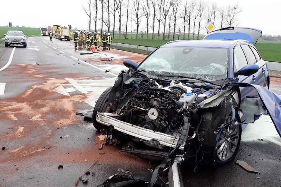 Unfall-Chaos nach A14-Sperrung: Jetzt auch Umleitung dicht