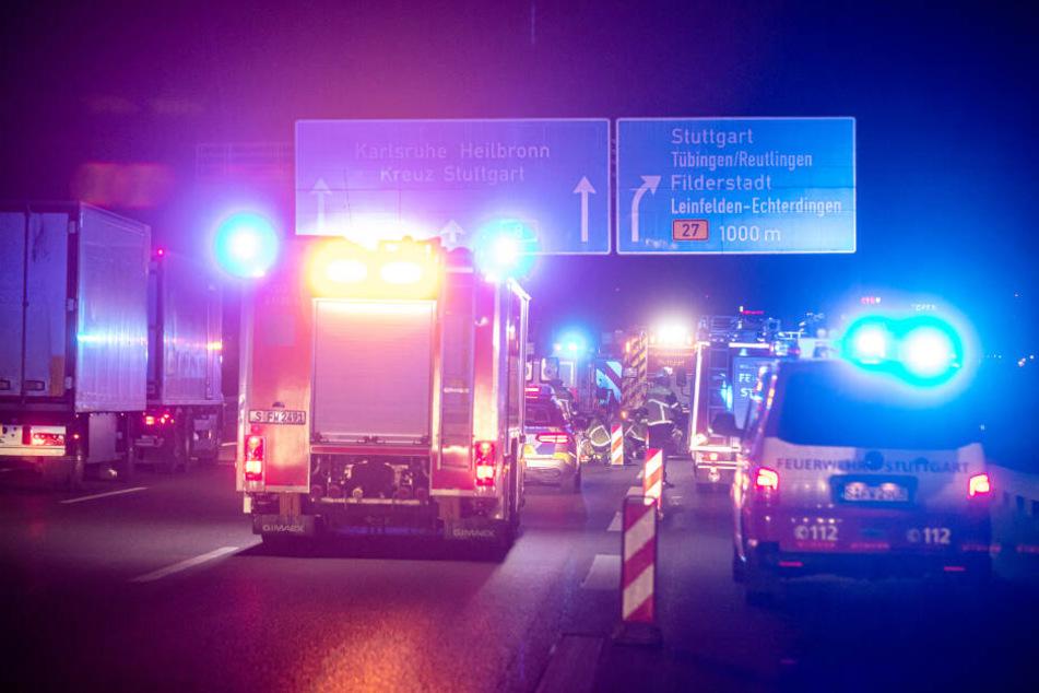 Der Verkehr wurde an der Unfallstelle vorbeigeleitet.