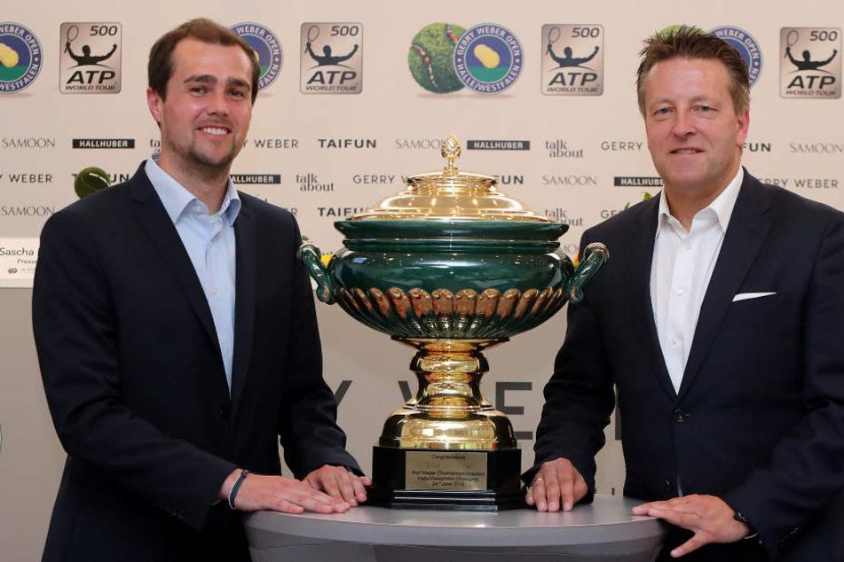 Turnierdirektor Ralf Weber (r.) und Marketingleiter Stephan Pumpe freuen sich auf die GWO18.