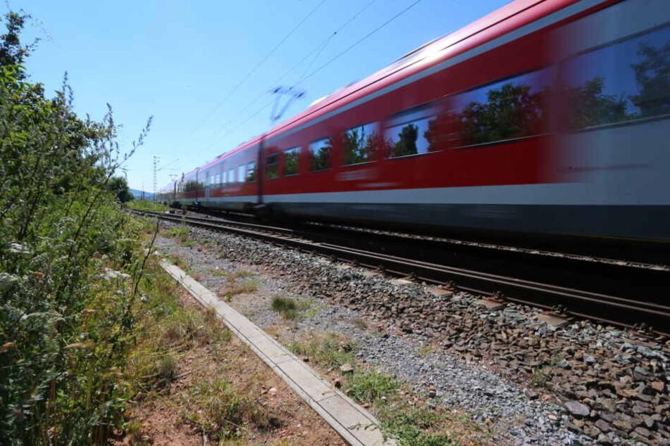 Die Scheiben der Züge wurden von den Steinen getroffen, Menschen wurden nicht verletzt. (Symbolbild)