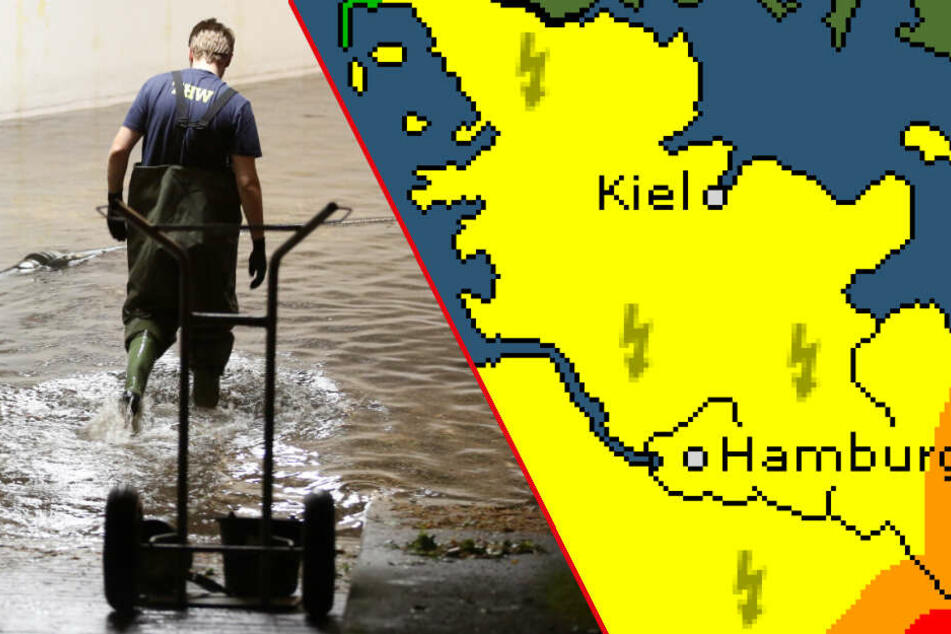 Dunkle Wolken ziehen Richtung Hamburg: Drohen wieder überschwemmte Keller?