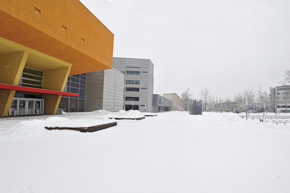 Der momentane Blick auf den Campus der TU Chemnitz...