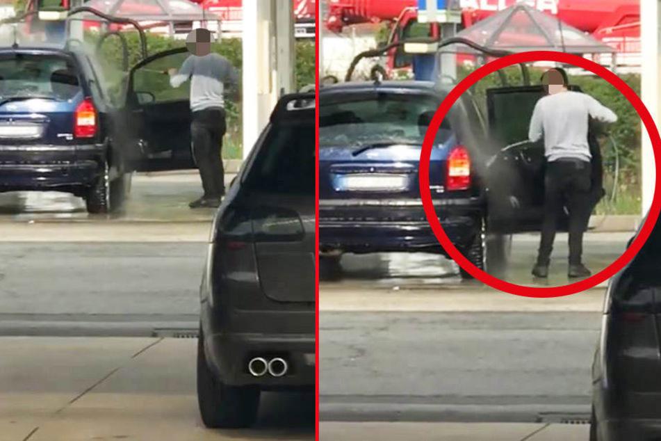 Dieser Mann nahm sich die Sauberkeit seines Autos etwas zu sehr zu Herzen.