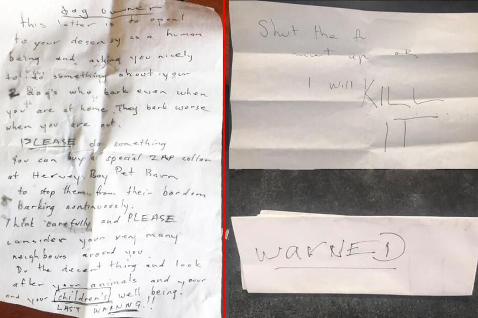 Diesen Droh-Brief erhielt die junge Mutter.