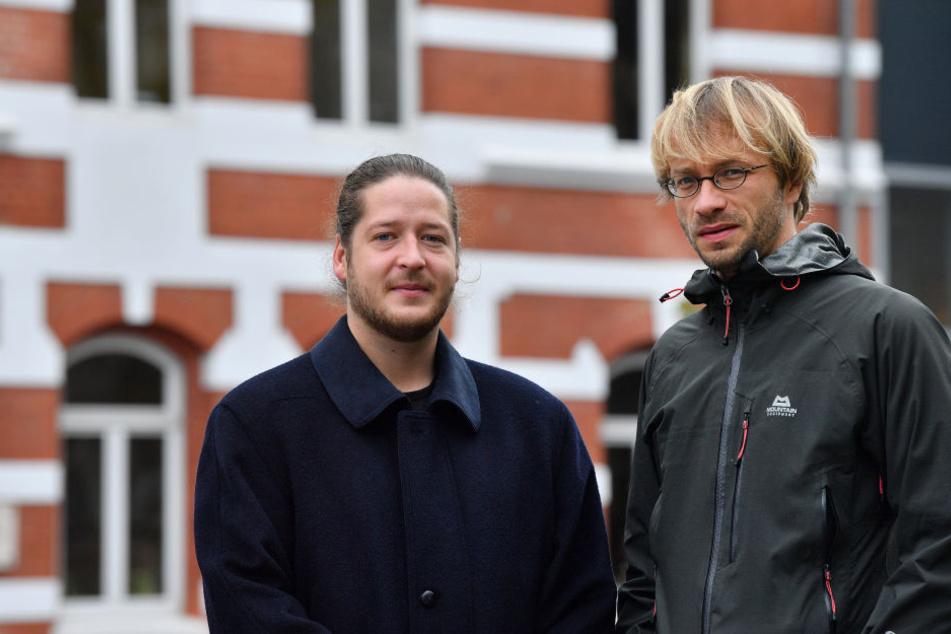 Der systemische Therapeut Ronny Teschner (rechts) und Sozialpädagoge Jonas Reistel helfen Männern in Jena.