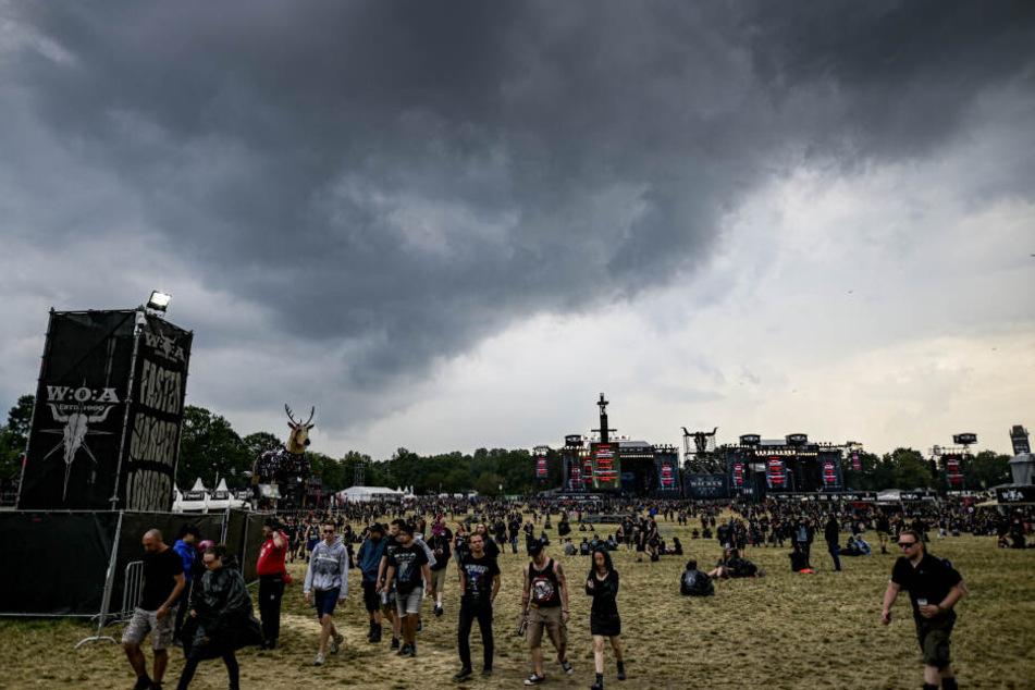 Das Wacken-Festival musste kurzzeitig geräumt werden.