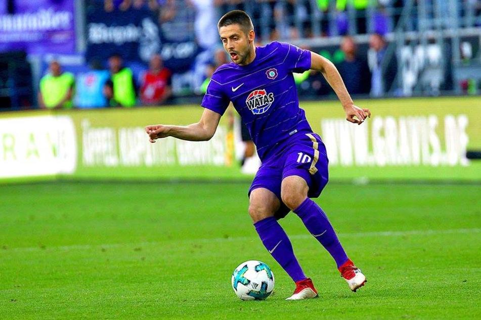 Die Relegation gegen den Karlsruher SC war für den FC Erzgebirge kraftraubend - auch für Dimitrij Nazarov.