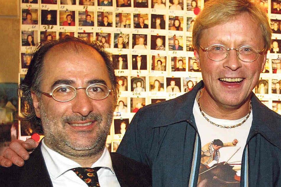 """Zu guten alten Zeiten 2002 im """"Cafe Prag"""": Giuseppe Balducci (l.) und Diskotheker Wolle Förster."""