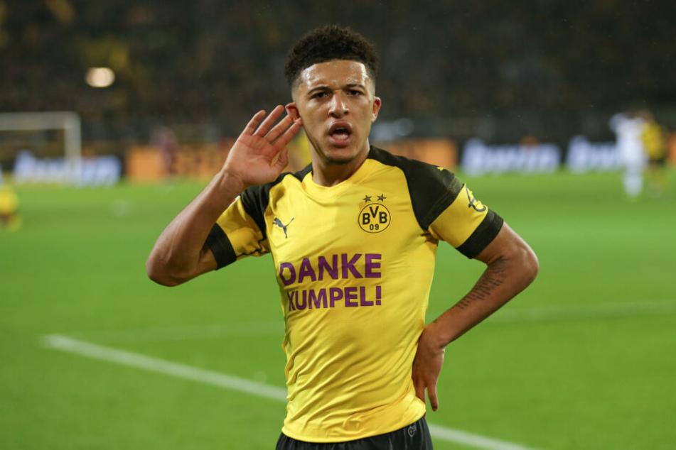 Bester Beweis, dass England-Youngster in der Bundesliga einschlagen können: Jadon Sancho (18) von Borussia Dortmund.