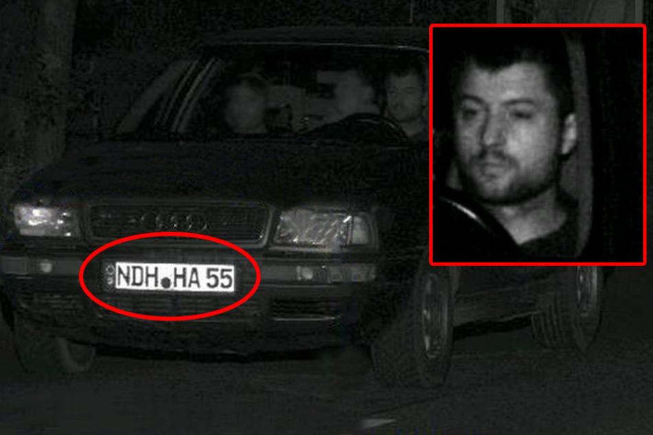Die Kennzeichen am Audi sind geklaut.