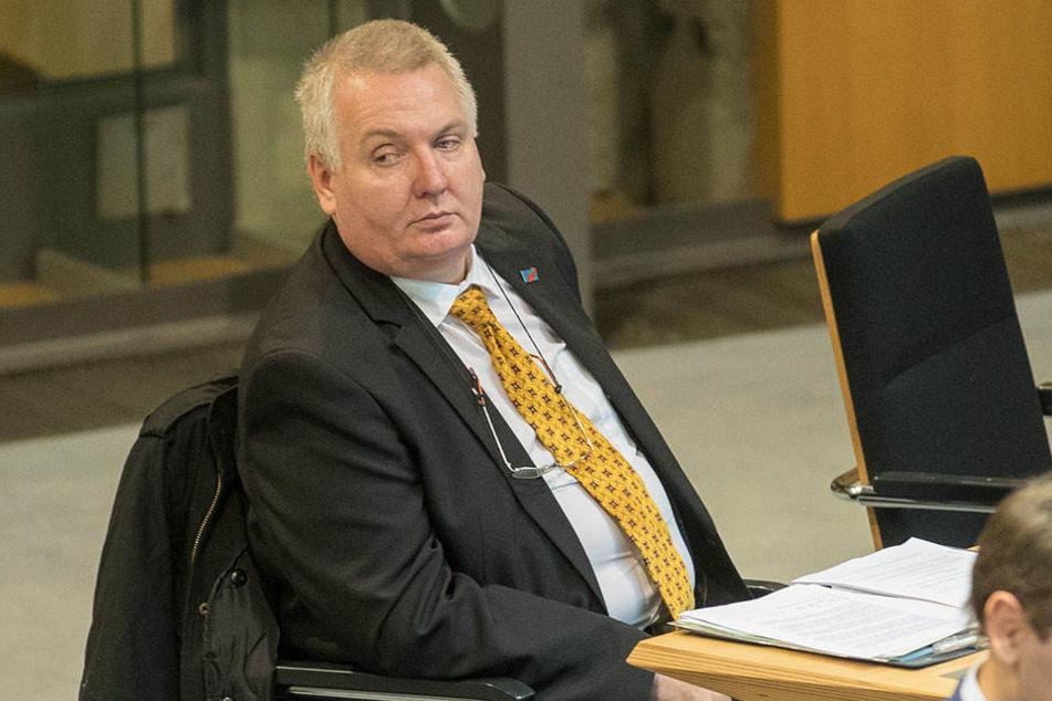 AfDler Kay Nerstheimer bei einer Sitzung im Abgeordnetenhaus. Am Mittwoch verlor er seine Immunität.