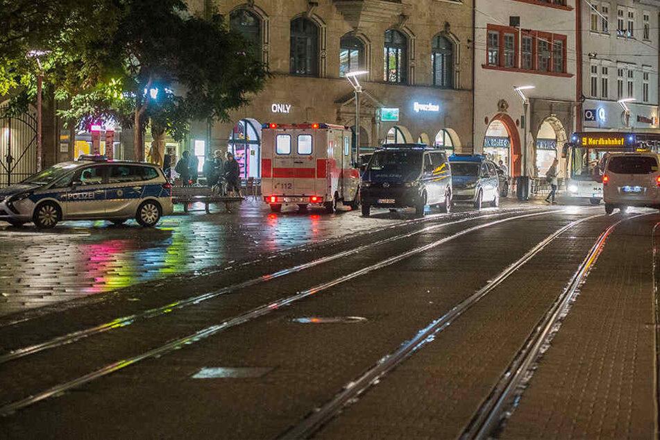 Erst in der Nacht zu Samstag kam es zu einer Massenschlägerei am Erfurter Anger.