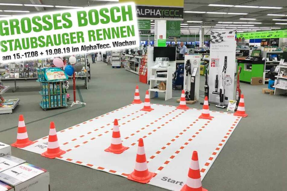Auf dieser Strecke im Markt findet das große Bosch-Rennen statt.