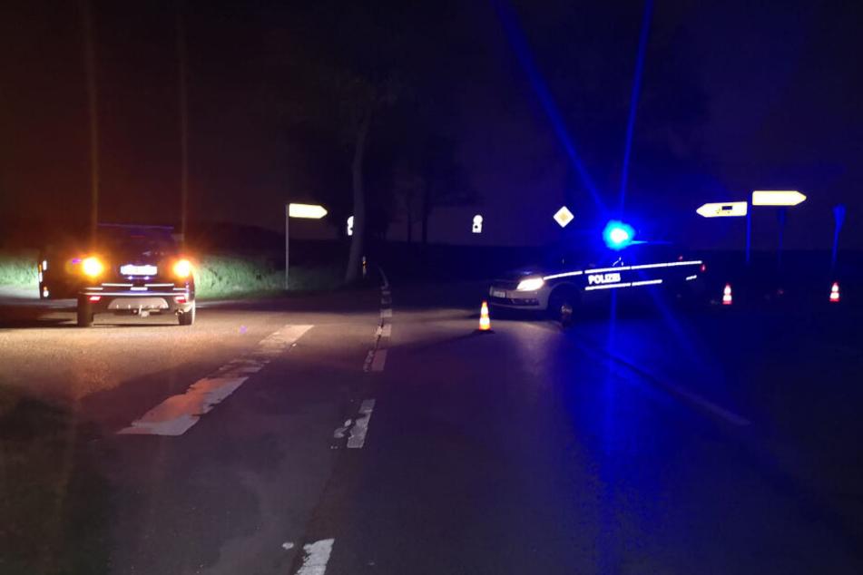 Polizei sperrte die Ortsverbindung bis in den späten Samstagabend ab.