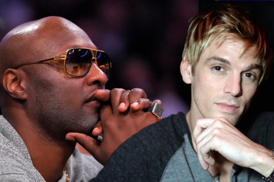 Ex-Basketballer Lamar Odom (41, l.) und Sänger Aaron Carter (33, r.) steigen in den Ring.