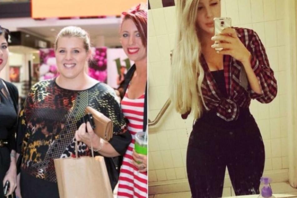 Vor einen Jahr hat Jasmine noch 140 Kilo gewogen (li.), heute sind es nur noch 78. Trotzdem ist die junge Frau noch nicht zufrieden.