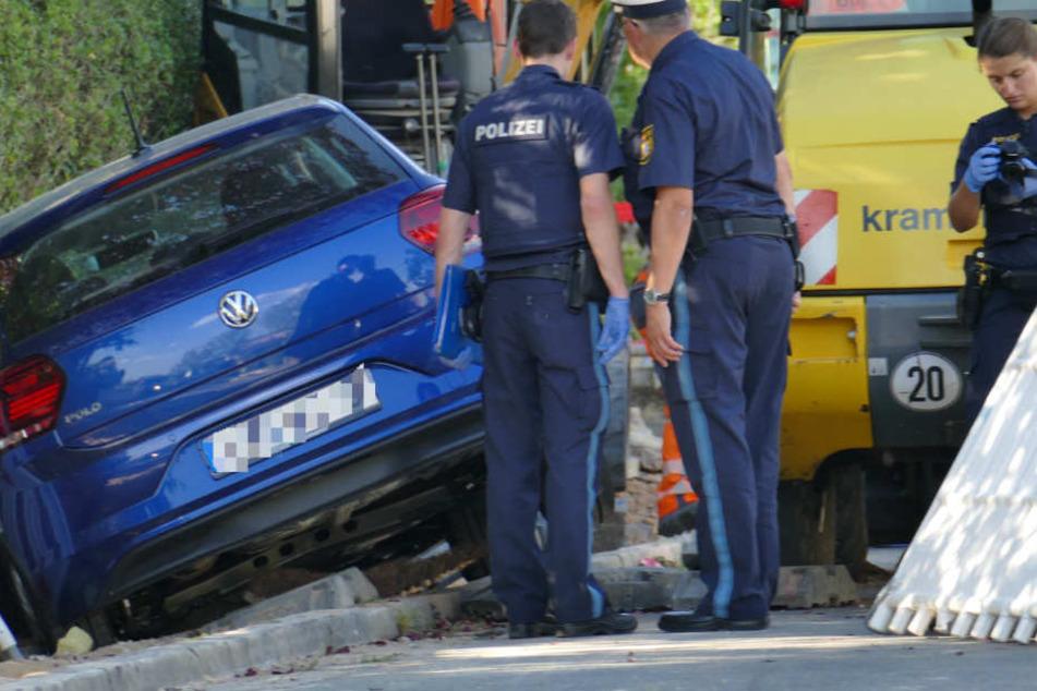 In einem Wohngebiet in Erlangen in Bayern ist es zu einem schweren Unfall gekommen.