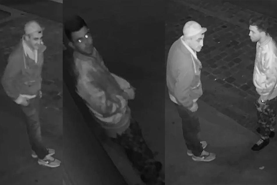 Diese beiden Männer beschädigten den Eingangsbereich eines Tabak-Geschäftes enorm bei dem Versuch, einzubrechen.