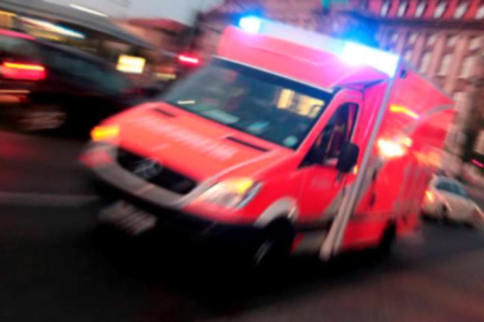 Der Fahrer wurde bei dem Unfall schwer verletzt und musste ins Krankenhaus.