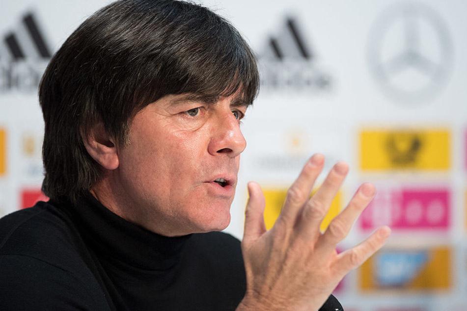 Bundestrainer Joachim Löw prophezeit Timo Werner eine große Karriere in der deutschen Nationalmannschaft.