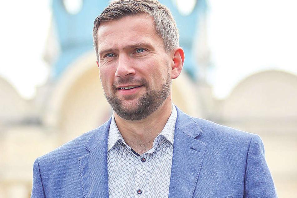 """Wirtschaftsminister Martin Dulig (43, SPD) will, dass das """"robuste Wachstum""""  etwa für Innovationen und neue Technologien genutzt wird."""
