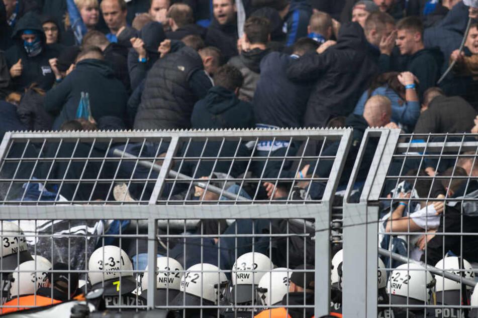 Die Polizei setzte Reizgas ein, um den Anhang der Hertha in die Schranken zu weisen.