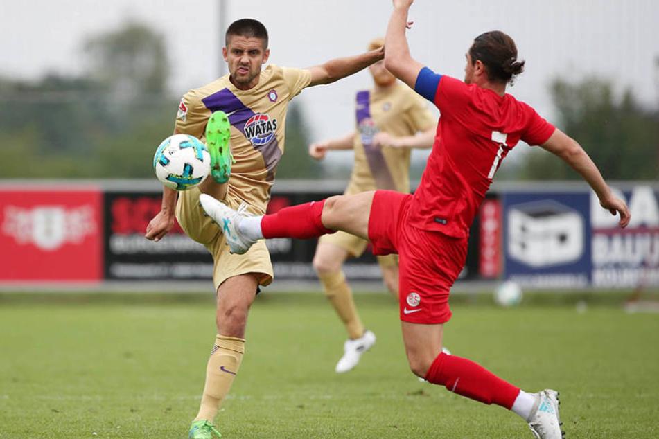Aue setzte sich gegen Antalyaspor souverän zur Wehr.