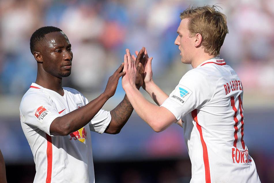 Naby Keita und Emil Forsberg ergänzen sich perfekt.