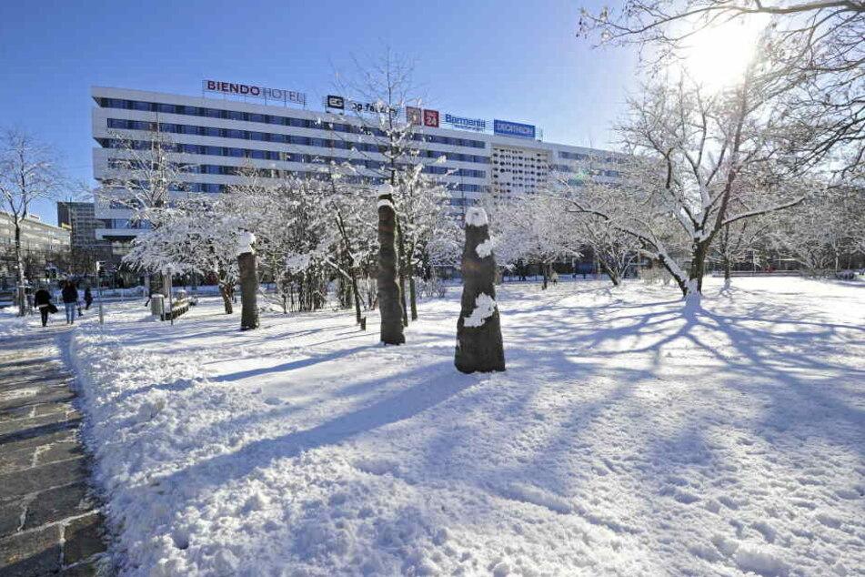 Vor einem Jahr: Chemnitz versank im Schnee.
