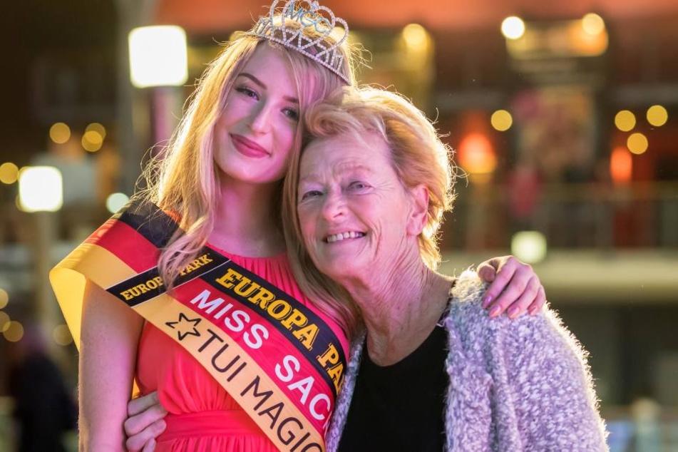Sie drückte die Daumen: Nastassja mit ihrer Oma Dagmar Sorgatz (72).