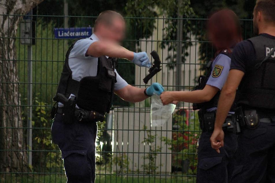 Eine Schreckschusswaffe wurde von der Polizei gesichert.