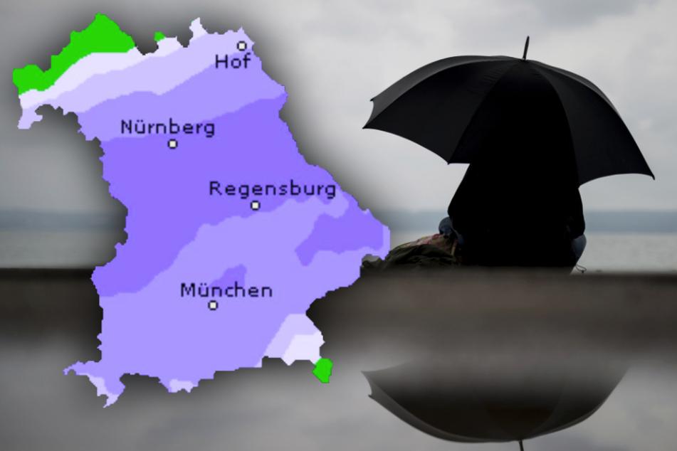 Wetter spielt Bayern übel mit: Schneematsch, Frost und Regen