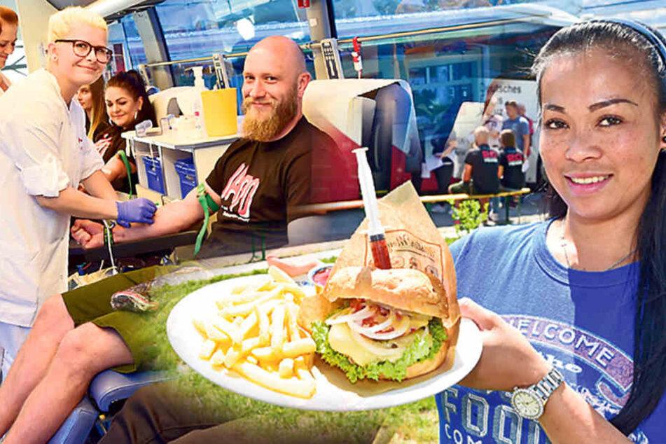Wenn es um Burger geht, lassen die Chemnitzer Blut!