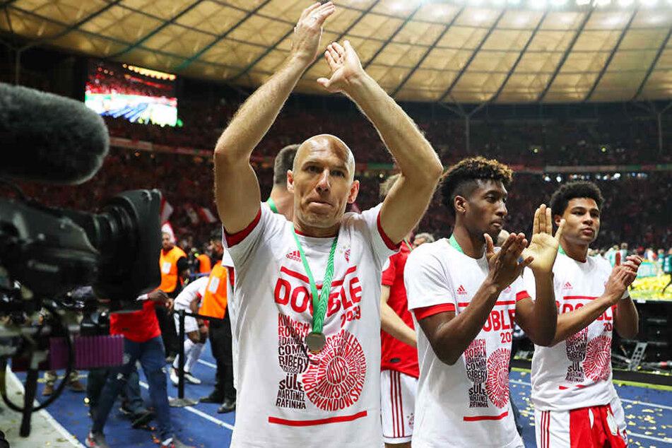 Arjen Robben beendet seine Karriere mit dem Double: In seiner letzten Saison holte er mit dem FC Bayern München die Deutsche Meisterschaft und den DFB-Pokal.
