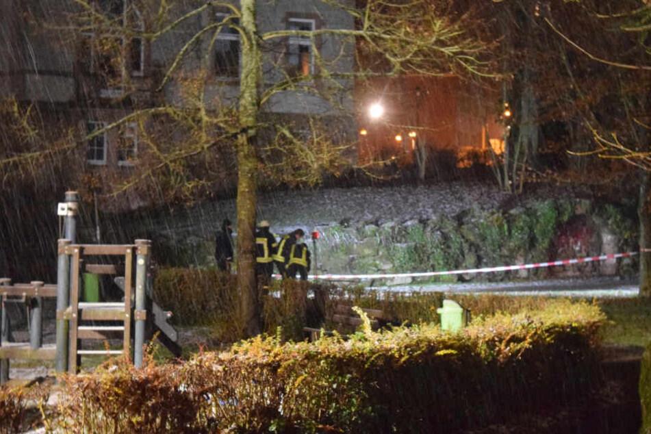 Auch Feuerwehrleute waren im Einsatz.
