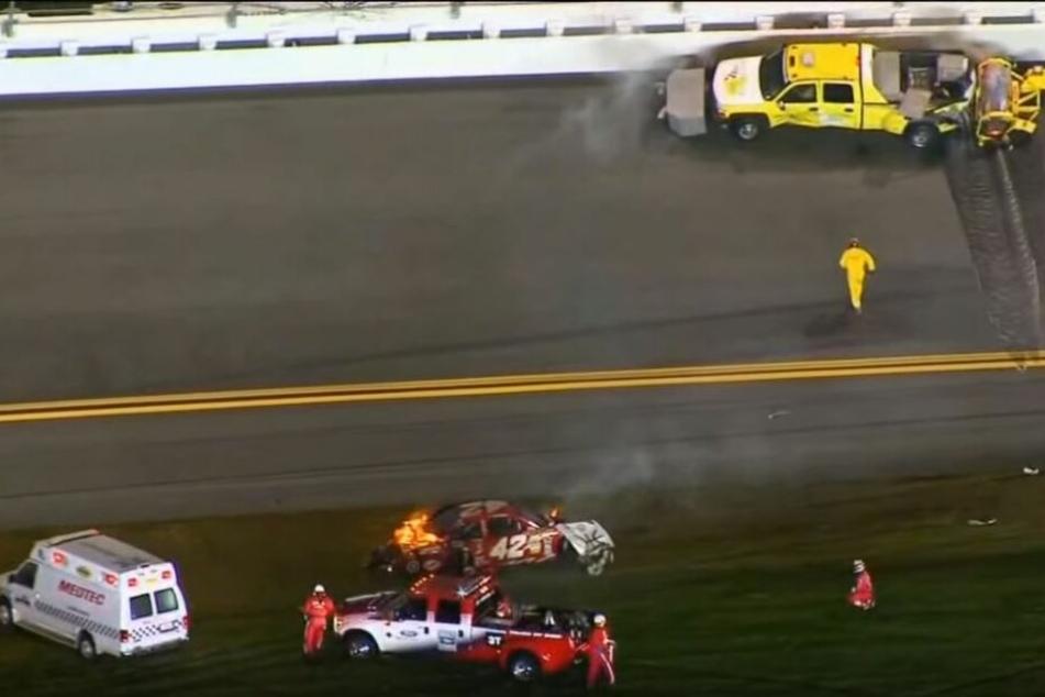 Juan-Pablo Montoya überstand 2012 einen Crash beim Daytona 500 unverletzt.
