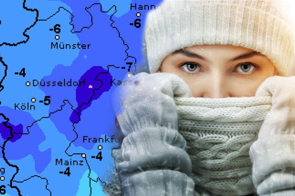 Puh! Eisig kalt wird es zum Wochenende. Auch Schneefall kehrt zurück.