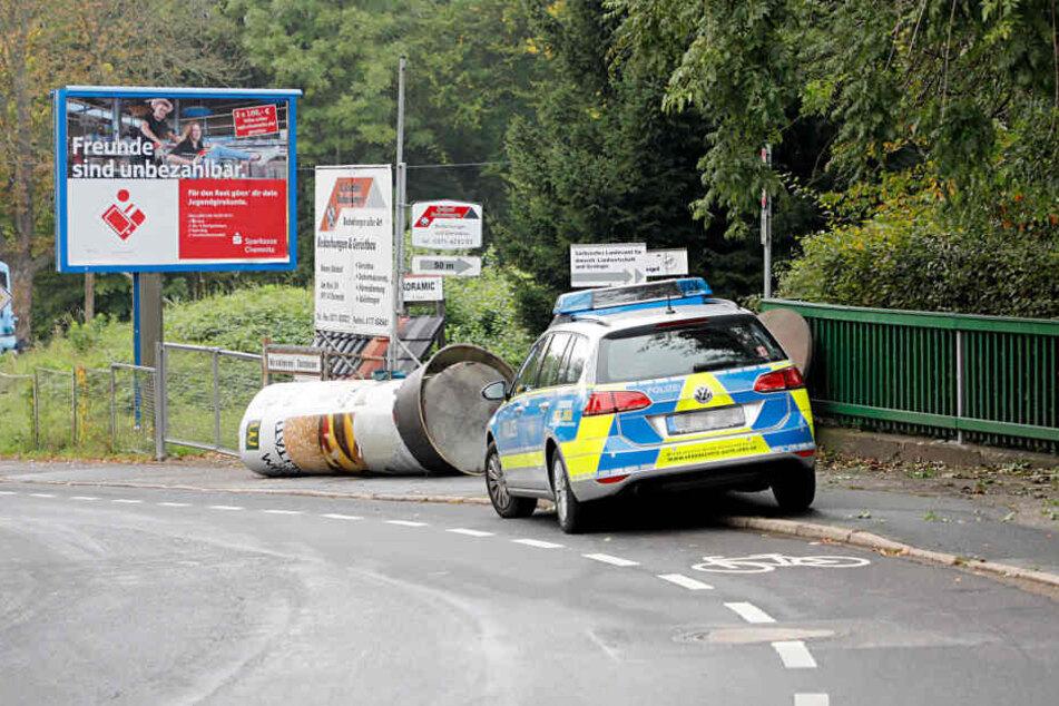 Der Unfall geschah in einer Linkskurve auf der Frankenberger Straße.