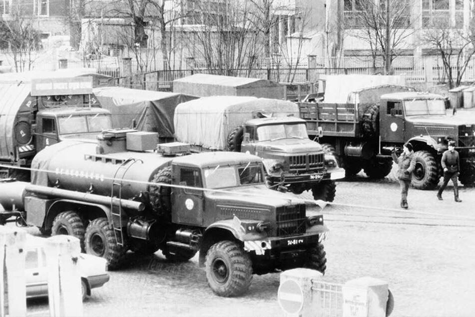 Im Januar 1992 trat am Güterbahnhof Dresden-Neustadt eine Pioniereinheit die Heimreise in die ehemalige Sowjetunion an.